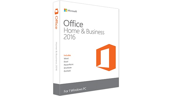 Microsoft Office 2016 Home and Business for Windos- Retail PKC