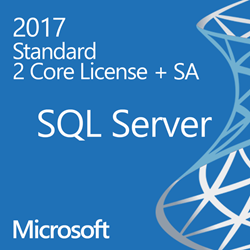 SQL Server 2017 Enterprise - 2 Core License - Unlimited Clients  OLP/SA