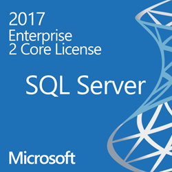 SQL Server 2017 Enterprise - 2 Core License - Unlimited Clients OLP
