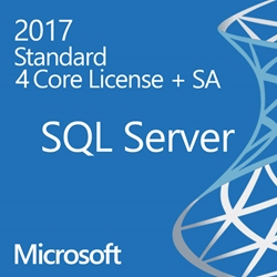 SQL Server 2017 Enterprise - 4 Core License - Unlimited Clients  OLP/SA