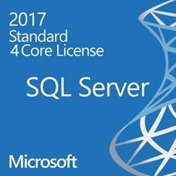 SQL Server 2017 Enterprise - 4 Core License - Unlimited Clients OLP