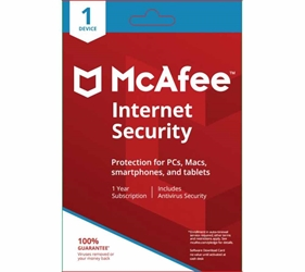 McAfee Internet Security (1 Device) (1-Year Subscription) PC/Mac - Download