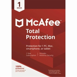 McAfee Total Protection (1 Device) (1-Year Subscription) PC/Mac - Download