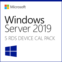 Windows 2019 Remote Desktop Services 5 Device CALs  - Instant Delivery