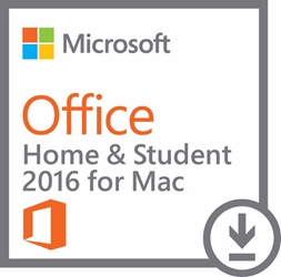 Microsoft Office 2016 Home & Student - 1 Mac - Office Suite - Non-commercial, Medialess Box - Intel-based Mac - English ONLY MEDIALESS P2