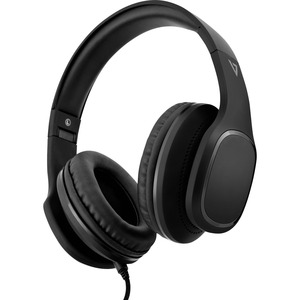 V7 Over-Ear Headphones with Microphone - Black - Stereo - Mini-phone (3.5mm) - Wired - 32 Ohm - 20 Hz - 20 kHz - Over-the-head, Over-the-ear - Binaural - 5.91 ft Cable - Noise Canceling - Black W/MIC 3.5MM BLK FOLDABLE 1.8M CABLE