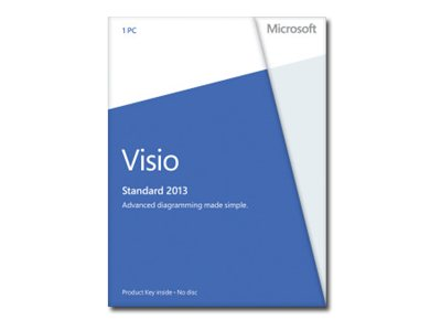 Microsoft Visio Standard 2013 Download (Mfg Number D86-04736)